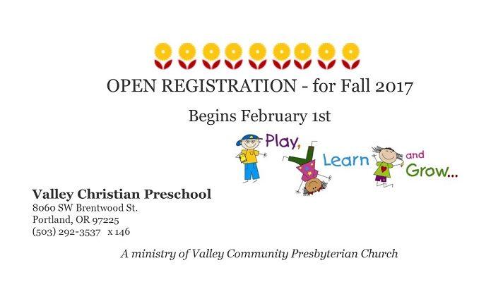 Open Registration - Fall 2017.pub
