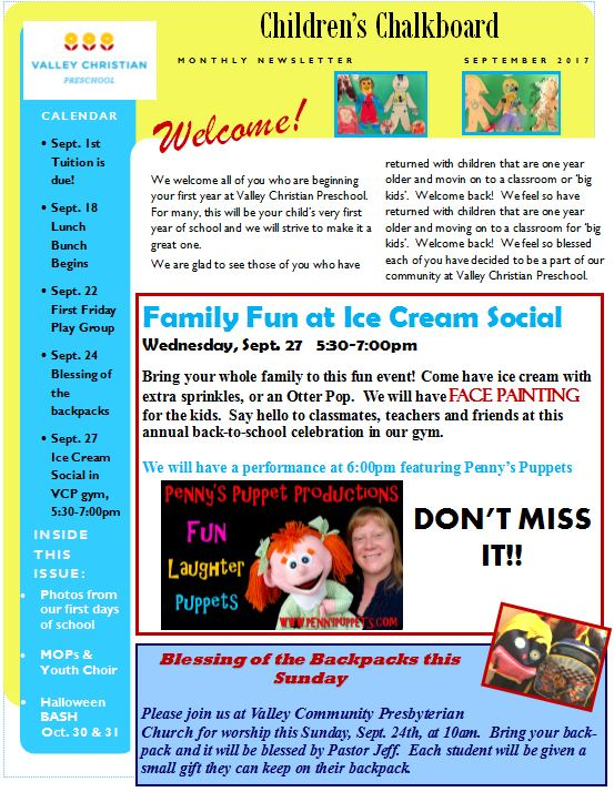 Newsletter Sept. 2017 pg. 1