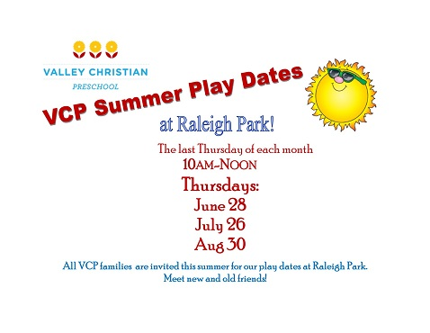VCP Summer play dates 2018