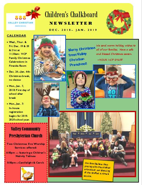 VCP newsletter Dec. 2018 - pg 1
